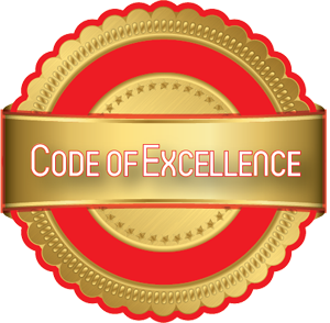 code of excellence emblem
