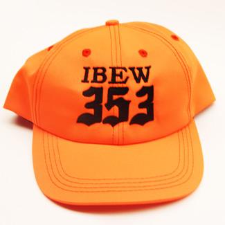 orange ibew 353 ball cap