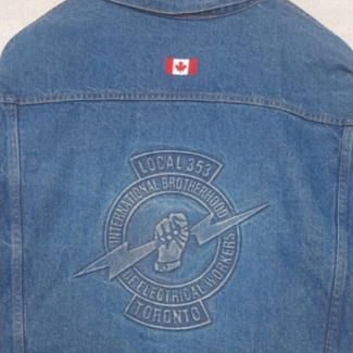 IBEW 353 denim jacket back