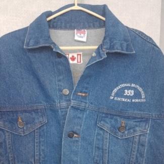 IBEW 353 denim jacket front
