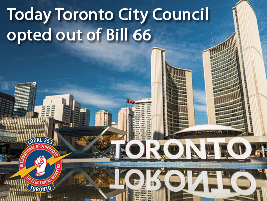 Toronto City Councillors Reject Bill 66